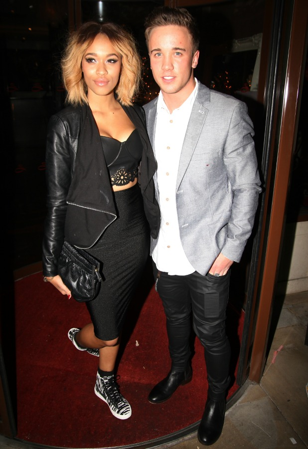 Sam Callahan and Tamera Foster attend CAKO & CAKO Kids Launch Party at Sanctum Soho Hotel, London, 10 December 2013