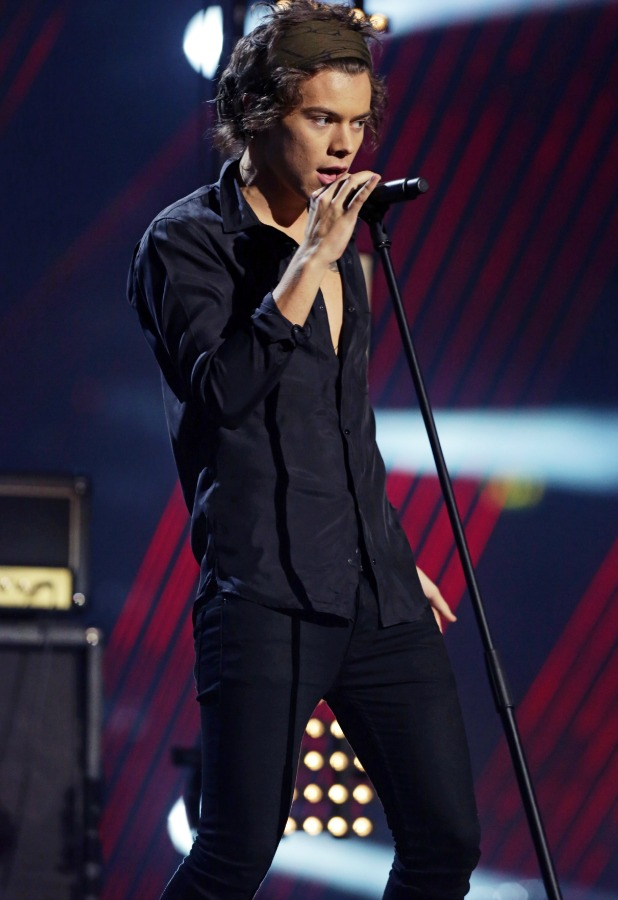Harry Styles, One Direction, 'The X Factor' final TV show, Wembley Arena, London, Britain - 15 Dec 2013