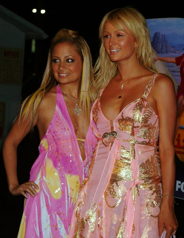Paris Hilton and Nicole Richie at the launch of 'The Simple Life 2' - the reality TV program which follows Paris Hilton and Nicole Richie across America California - 14.04.04