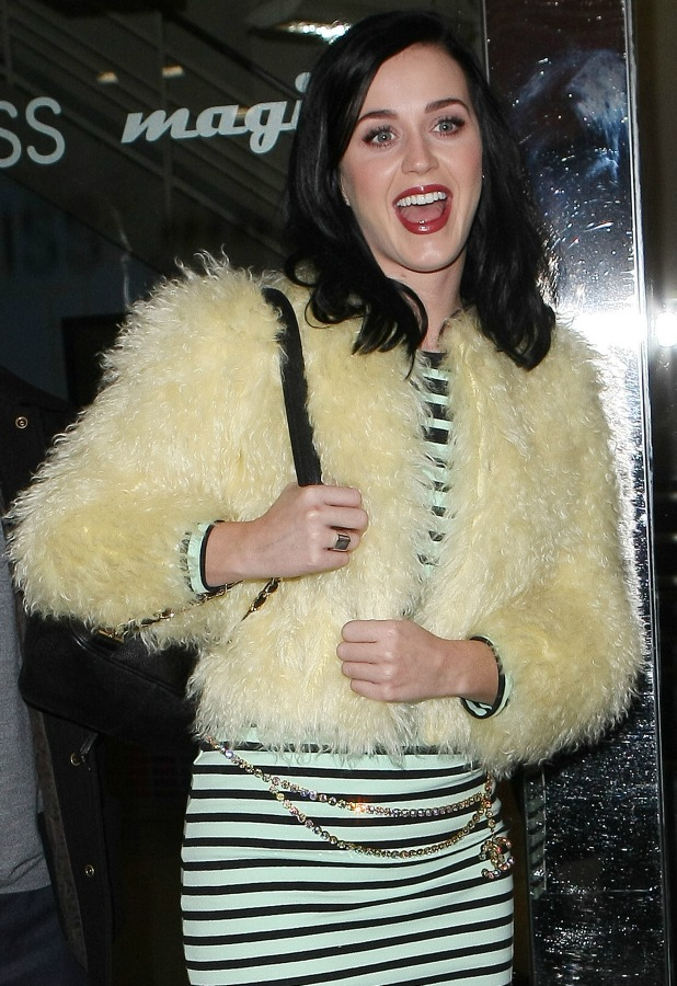 Katy Perry on a radio publicity day in London, 9 December 2013