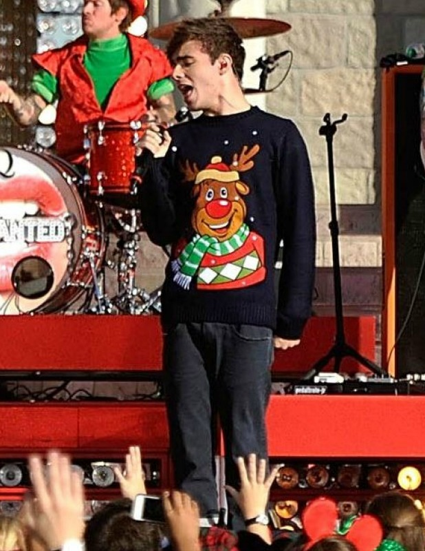 'Disney Parks Christmas Day Parade' TV programme special, Florida, America - 07 Dec 2013 The Wanted - Nathan Sykes