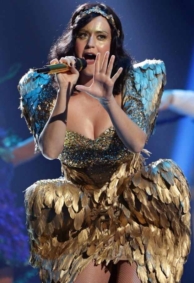 Katy Perry on 'The X Factor' final TV show, Wembley Arena, London, Britain - 15 Dec 2013