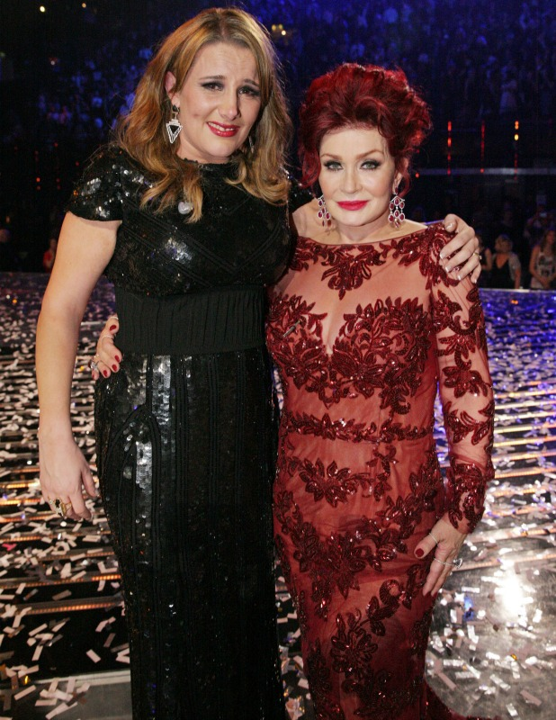 Sam Bailey and Sharon Osbourne on 'The X Factor' final TV show, Wembley Arena, London, Britain - 15 Dec 2013