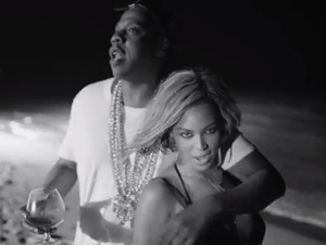 Beyoncé and husband Jay Z frolic on beach in 'Drunk In Love' video