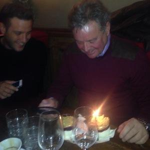TOWIE's Big Mark celebrates birthday with Elliott Wright. (19 December 2013).