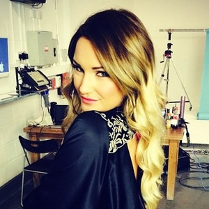 TOWIE's Sam Faiers poses in a black robe during a photoshoot - 17 December 2013