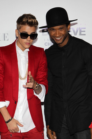 Justin Bieber's 'Believe' film premiere, Los Angeles, America - 18 Dec 2013 Justin Bieber and Usher