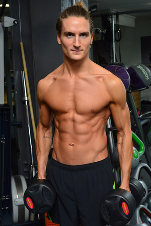 Oliver Proudlock shows off his body in the gym as he promotes his new book by Nick Mitchell 'The 6 Week Muscle Plan' - 17.12.2013