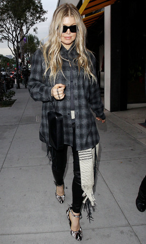 Fergie Duhamel out and about, Los Angeles, America - 17 Dec 2013 17 Dec 2013