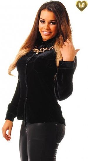 Lateysha Loves monochrome black velvet shirt - 17 December 2013