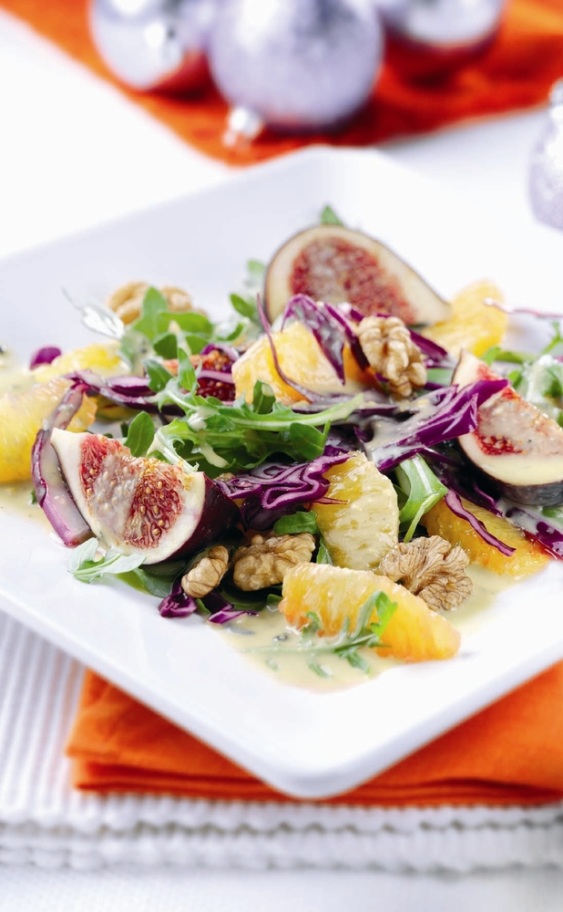 Figs, Oranges & Blue Cheese: a recipe for a seasonal Christmas salad ...