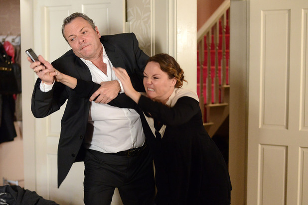 EastEnders, Janine wants the recording, Mon 23 Dec