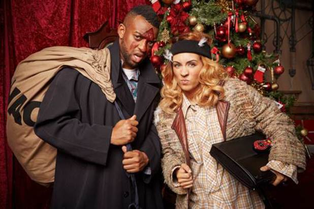 Oritsé from JLS and ITV's Stepping Out dancer AJ Azari are celebrating Christmas with Virgin Media this year by recreating scenes from some of their favourite Christmas films - Elf, Home Alone and White Christmas.