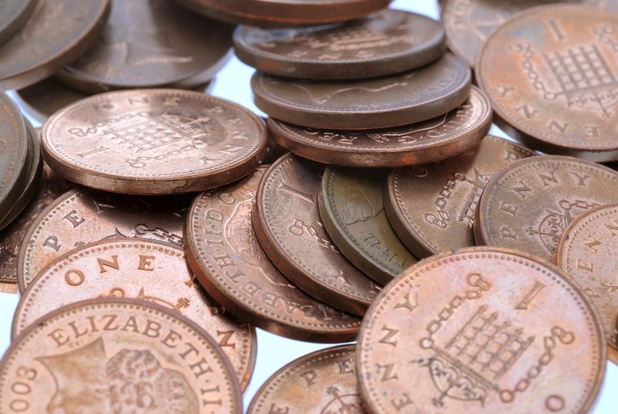 Various Stock - Oct 2007 Pile of 1 Pence Coins Oct 2007