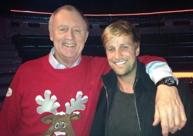 Kian Egan and Chris Tarrant on set of Who Wants To Be A Millionaire - 19 December 2013
