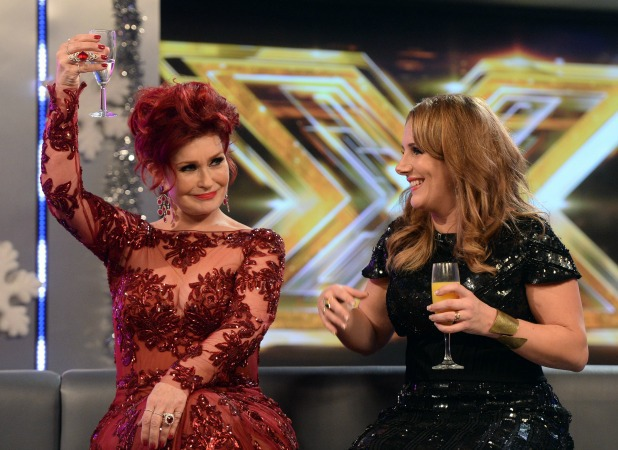 The Xtra Factor - Judges - Sharon Osbourne with Sam Bailey 15 Dec 2013