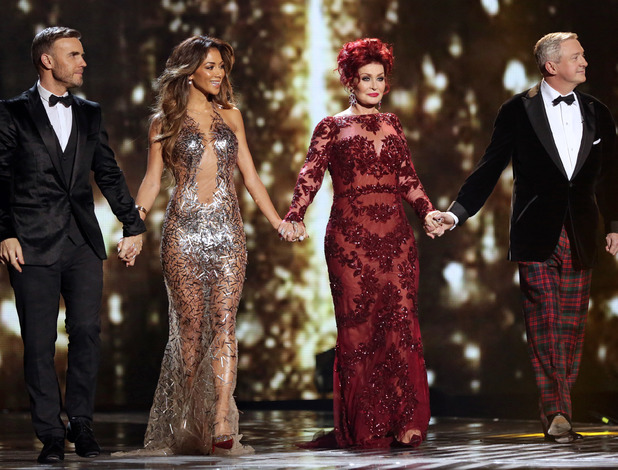 Gary Barlow, Nicole Scherzinger, Sharon Osbourne, Louis Walsh - 'The X Factor' final TV show, Wembley Arena, London, Britain - 15 Dec 2013
