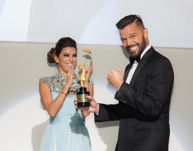 Eva Longoria hosts her first global gift gala in Dubai, United Arab Emirates - 14 Dec 2013 Ricky Martin