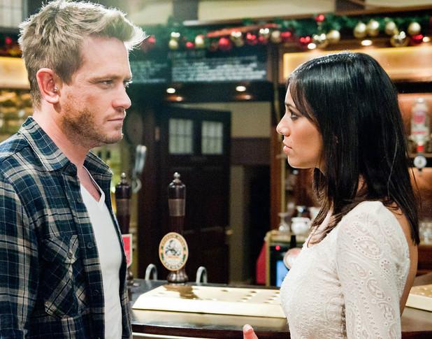 Emmerdale, Priya asks David to be with her, Tue 24 Dec