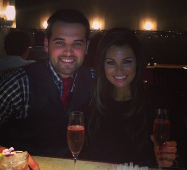 TOWIE's Jessica Wright and Ricky Rayment enjoy family dinner to celebrate Big Mark's birthday. (19 December 2013).