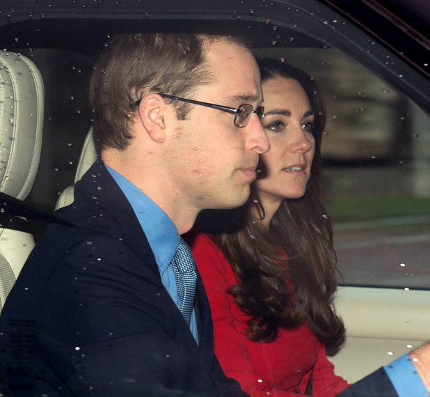 Royal family Christmas lunch, Buckingham Palace, London, Britain - 18 Dec 2013 Prince William and Catherine Duchess of Cambridge