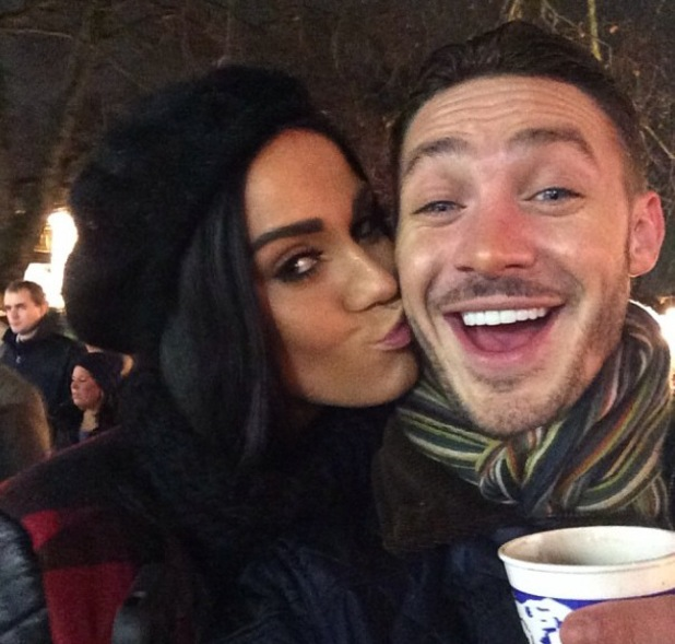 Kirk Norcross and Vicky Pattison share a kiss at Winter Wonderland in London - uploaded 18 December 2013