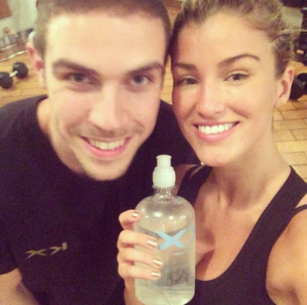 I'm A Celebrity's Amy Willerton works out in the gym, 17 December 2013