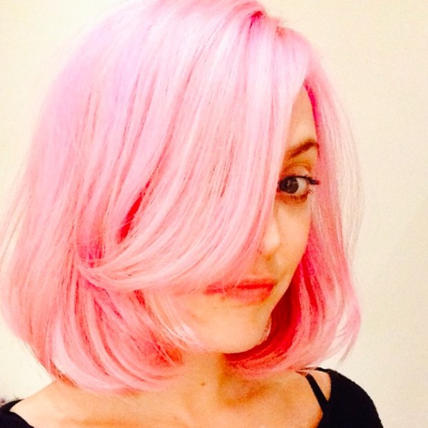 Fearne Cotton posts picture of newly-dyed hair on Twitter, December 20 2013