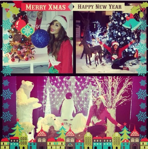 Nicole Scherzinger wishes fans a happy Christmas and New Year, 17 December 2013