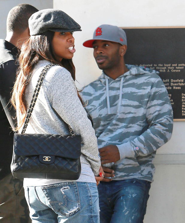 Kelly Rowland and Tim Witherspoon at The Grove (15 December 2013)
