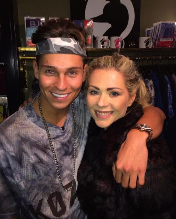 TOWIE's Joey Essex with Nicola McLean at his Fusey store in Essex. (20 December).