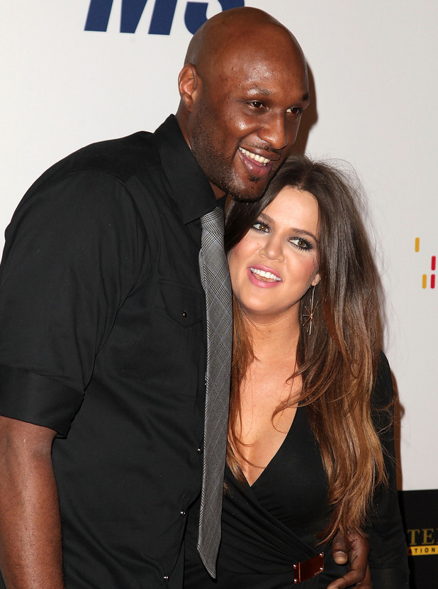 NBA player Lamar Odom and TV personality Khloe Kardashian 19th Annual Race to Erase MS held at the Hyatt Regency Century Plaza Century City, California - 05.18.12