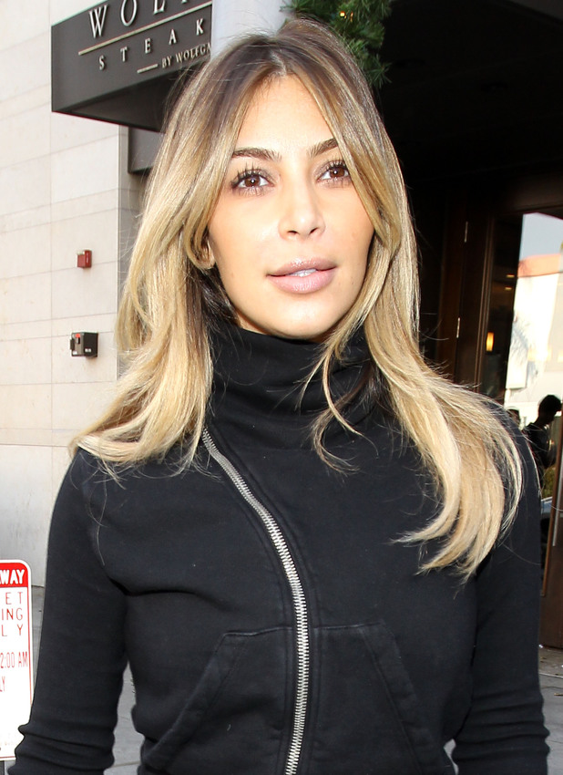 Kim Kardashian out and about in Beverly Hills, Los Angeles, America - 21 Dec 2013