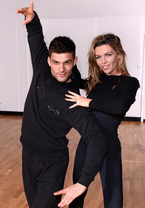 'Strictly Come Dancing' TV show rehearsals, London, Britain - 18 Dec 2013 Abigail Clancy and Aljaz Skorjanec