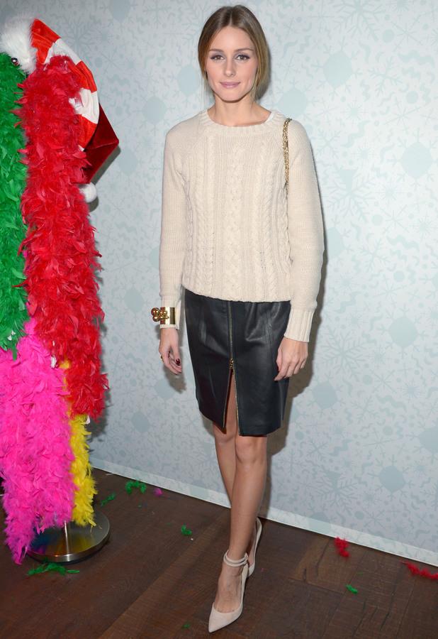 Olivia Palermo at the Old Navy Holiday Bazaar, New York, America - 11 Dec 2013