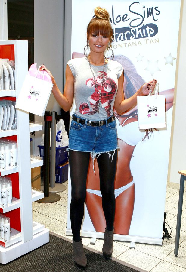 Chloe Sims at Boots Birmingham High Street doing a signing for her new tanning range 'Chloe Sims Starship', 20 December 2013