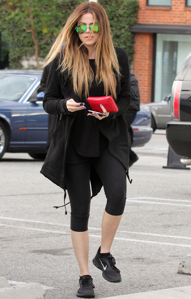 Khloe Kardashian out and about, Los Angeles, America - 19 Dec 2013