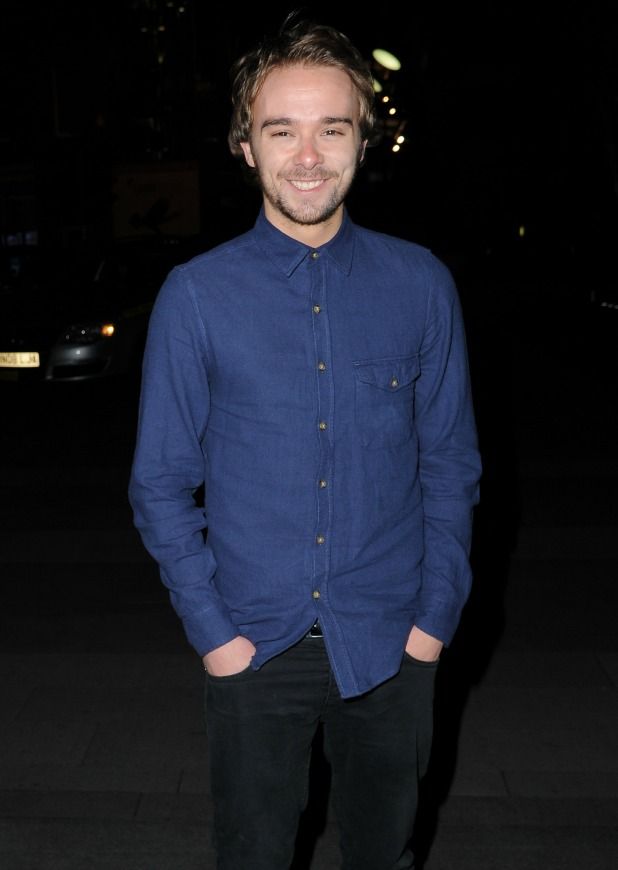 Jack P. Shepherd at the Coronation Street Christmas party 2013