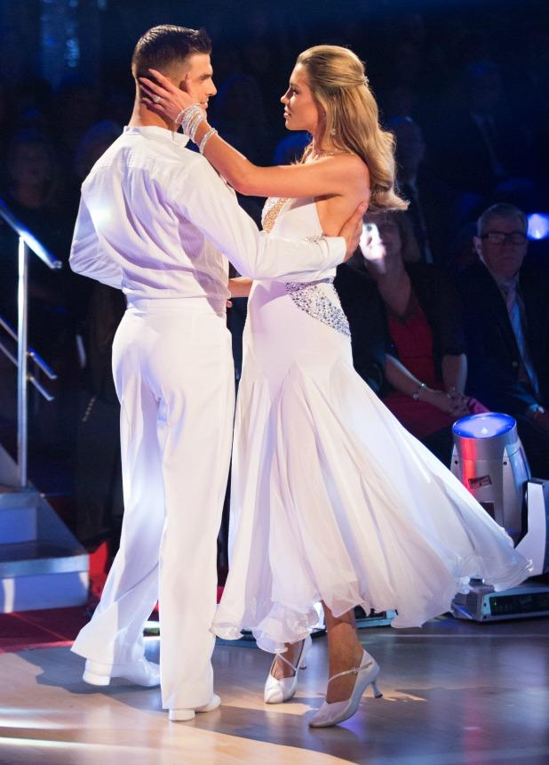 Aljaz Skorjanec, Abbey Clancy on Strictly Come Dancing 2013 final, 21 December 2013