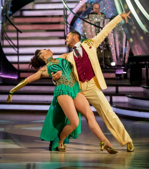 Natalie Gumede, Artem Chigvinstev on Strictly Come Dancing 2013 final, 21 December 2013