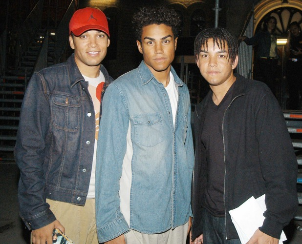 Taj, Taryll and T.J of 3T at the Dutch Jackson fanclub day at the Paradiso Amsterdam - 27/09/03
