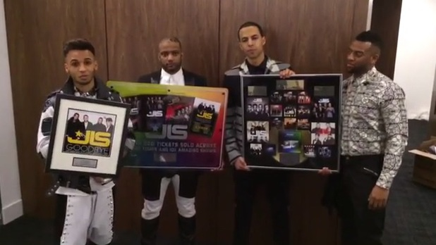 JLS video message to fans recorded just before their final gig on 22 December 2013