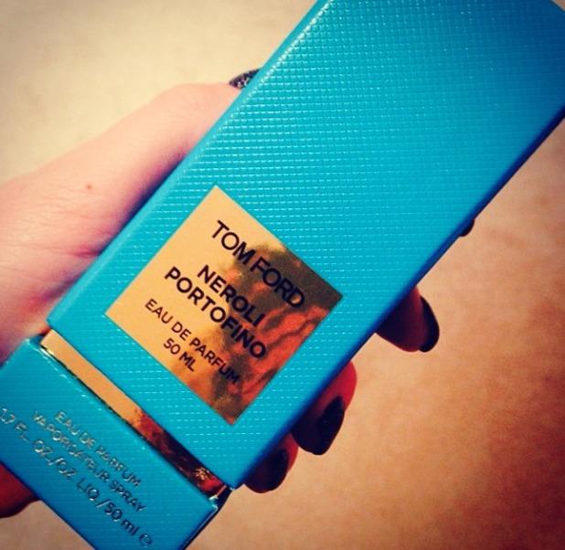 BIllie Mucklow shows off her favourite christmas present, Tom Ford Neroli Portofino, Instagram, 27 December 2013