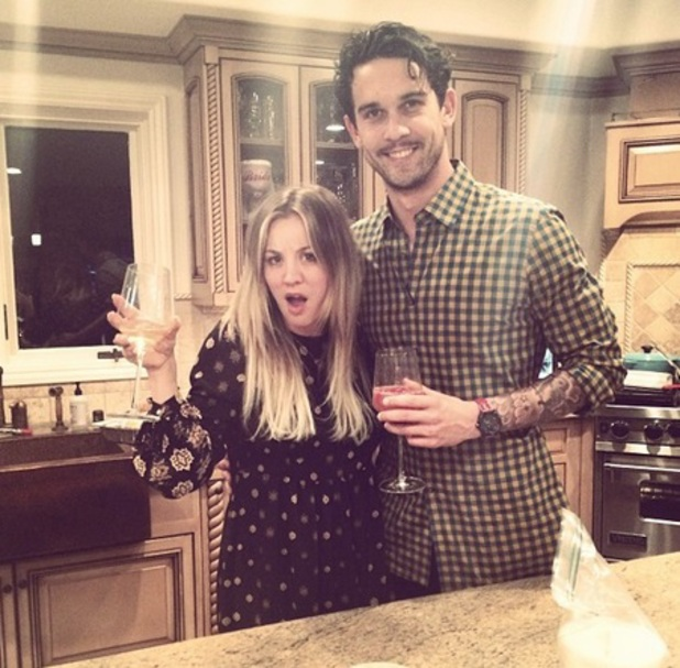 Kaley Cuoco and Ryan Sweeting celebrate first Christmas Day together, 2013