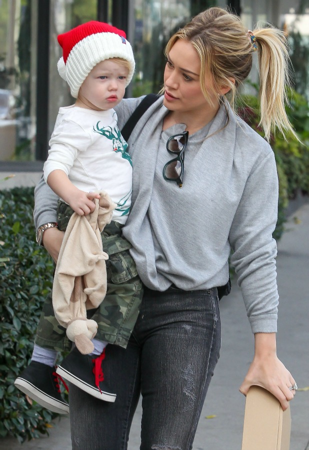 Hilary Duff and son Luca in LA, 21 December 2013