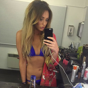 Charlotte Crosby shows off weight loss posing in a bikini, 27 December 2014