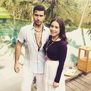 Louise Thompson and Alik Alfus in Bali 24 December