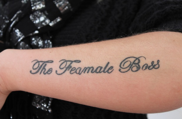 """""""The Feamale Boss"""" tattoo"""