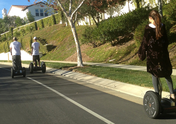 Justin Bieber and Selena Gomez ride Segways together in Calabasas - 2 January 2013