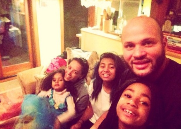 Mel B celebrates Christmas with hubby Stephen and family, Dec 2014.
